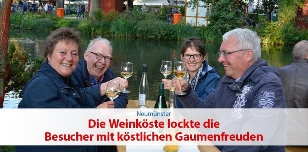 Die Weinköste lockte die Besucher mit köstlichen Gaumenfreuden