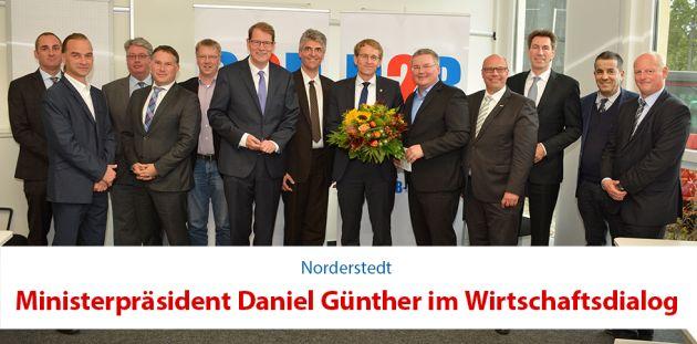 Ministerpräsident Daniel Günther im Wirtschaftsdialog