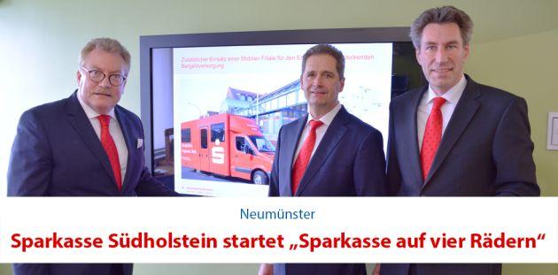 """Sparkasse Südholstein startet """"Sparkasse auf vier Rädern"""""""
