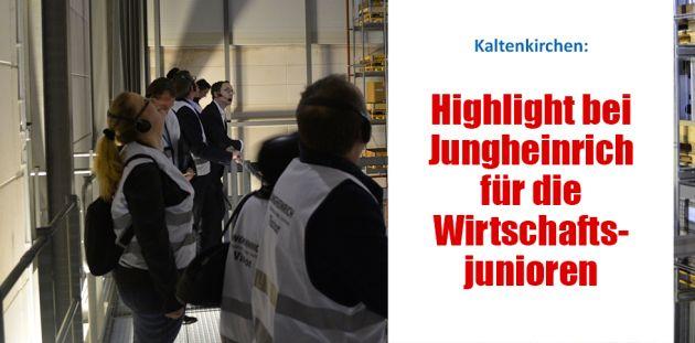 Highlight bei Jungheinrich für die Wirtschaftsjunioren