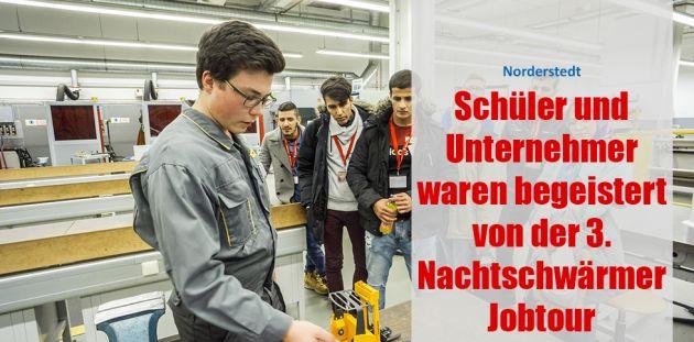 Schüler und Unternehmer waren begeistert von der 3. Nachtschwärmer Jobtour