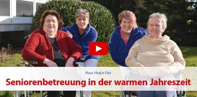 Seniorenbetreuung in der warmen Jahreszeit