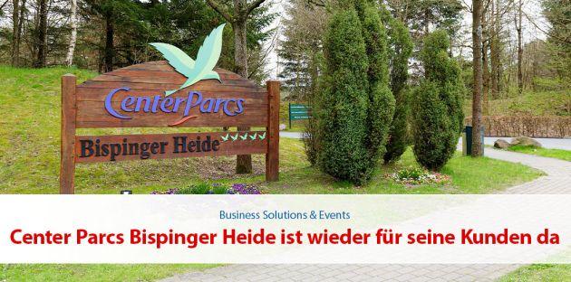 Center Parcs Bispinger Heide ist wieder für seine Kunden da